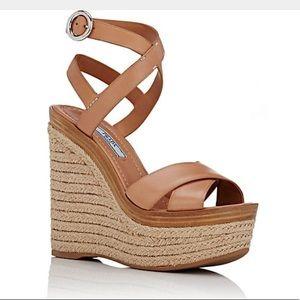 PRADA - Crisscross Ankle-Strap Platform Sandals